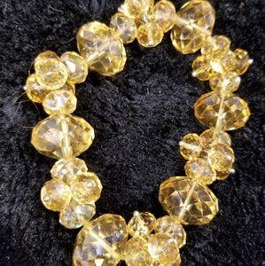 Amberd color beaded elastic bracelet